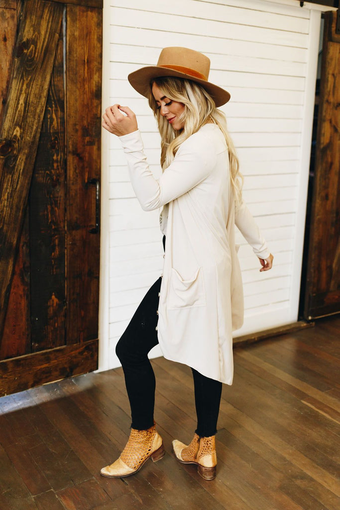 Easy Living High Low Ribbed Cardigan