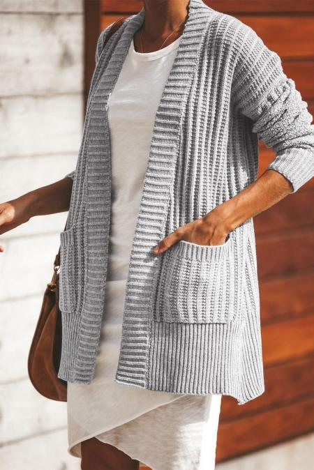 Easy Does It Knit Cardigan w/ Pockets
