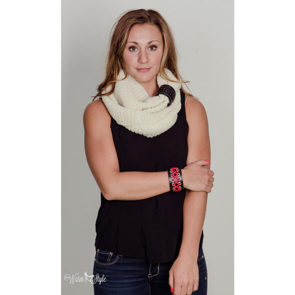 Attractive Scarf Cuff and Bracelet