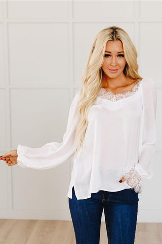 Never Really Over Lace Ribbed Sweater