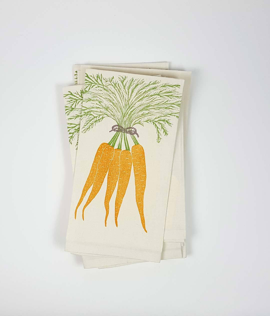 Bundle of Carrots Tea Towel - www.kanahta.com - 1
