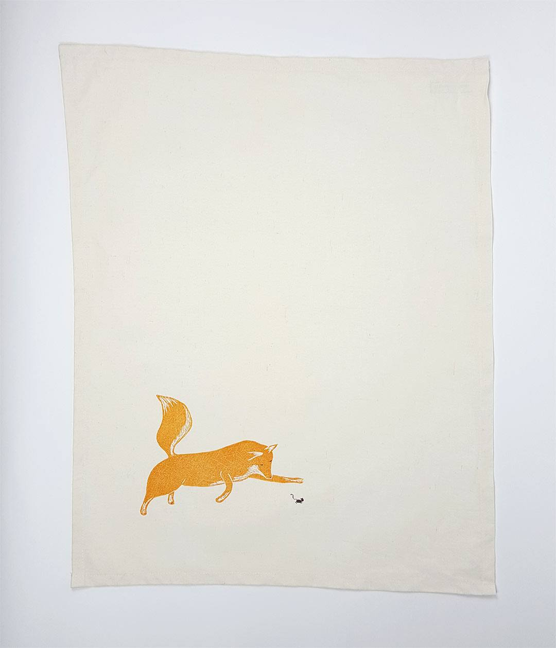 Fox and Mouse Tea Towel - www.kanahta.com - 1