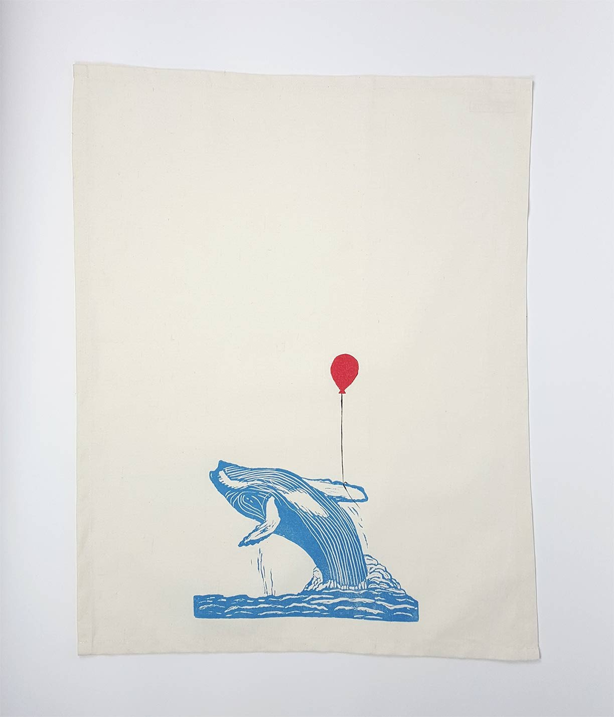 Playful Whale Tea Towel - www.kanahta.com - 1