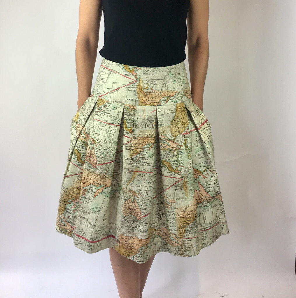 Cartography Print Full Skirt