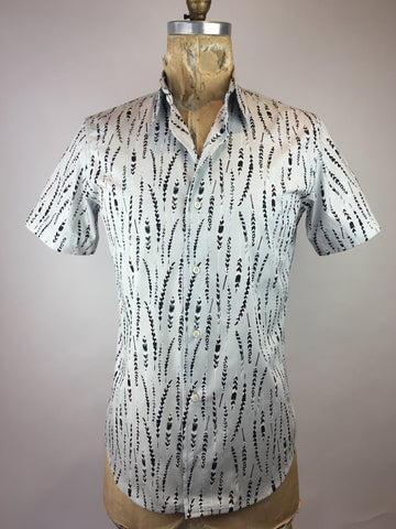 Men's Short Sleeve Feather Shirt