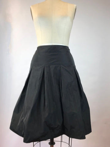 Black Memory Taffeta Full Skirt
