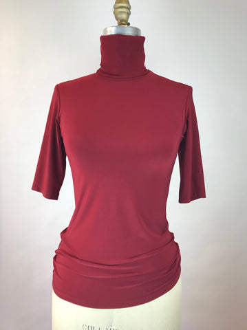 Elbow Length Turtleneck Jersey