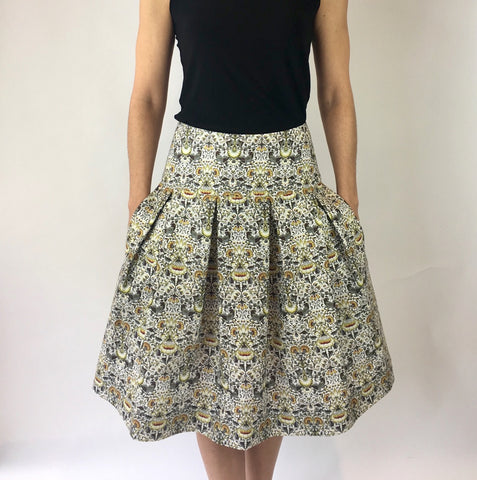 William Morris Print Full Skirt