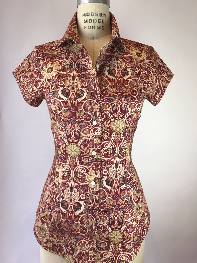 Womens's Cap Sleeve William Morris Shirt