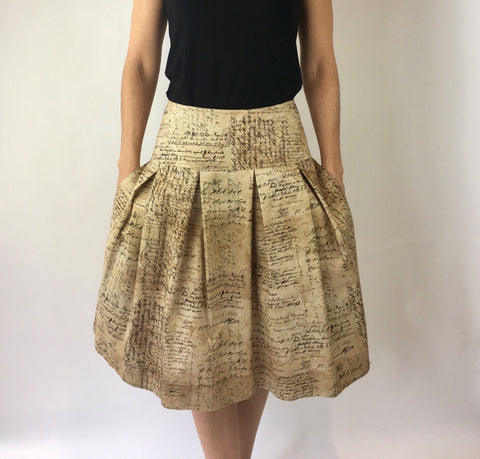 Calligraphy Print Full Skirt