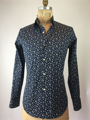 Men's Long Sleeve Small Floral Shirt