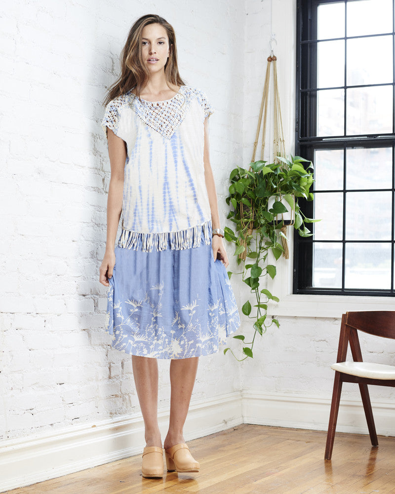Claire Tunic in Blue Tie Dye