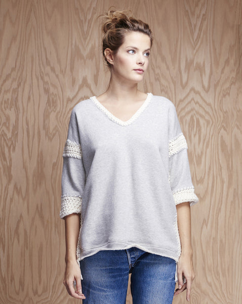 Hayes V-Neck Oversized Sweatshirt