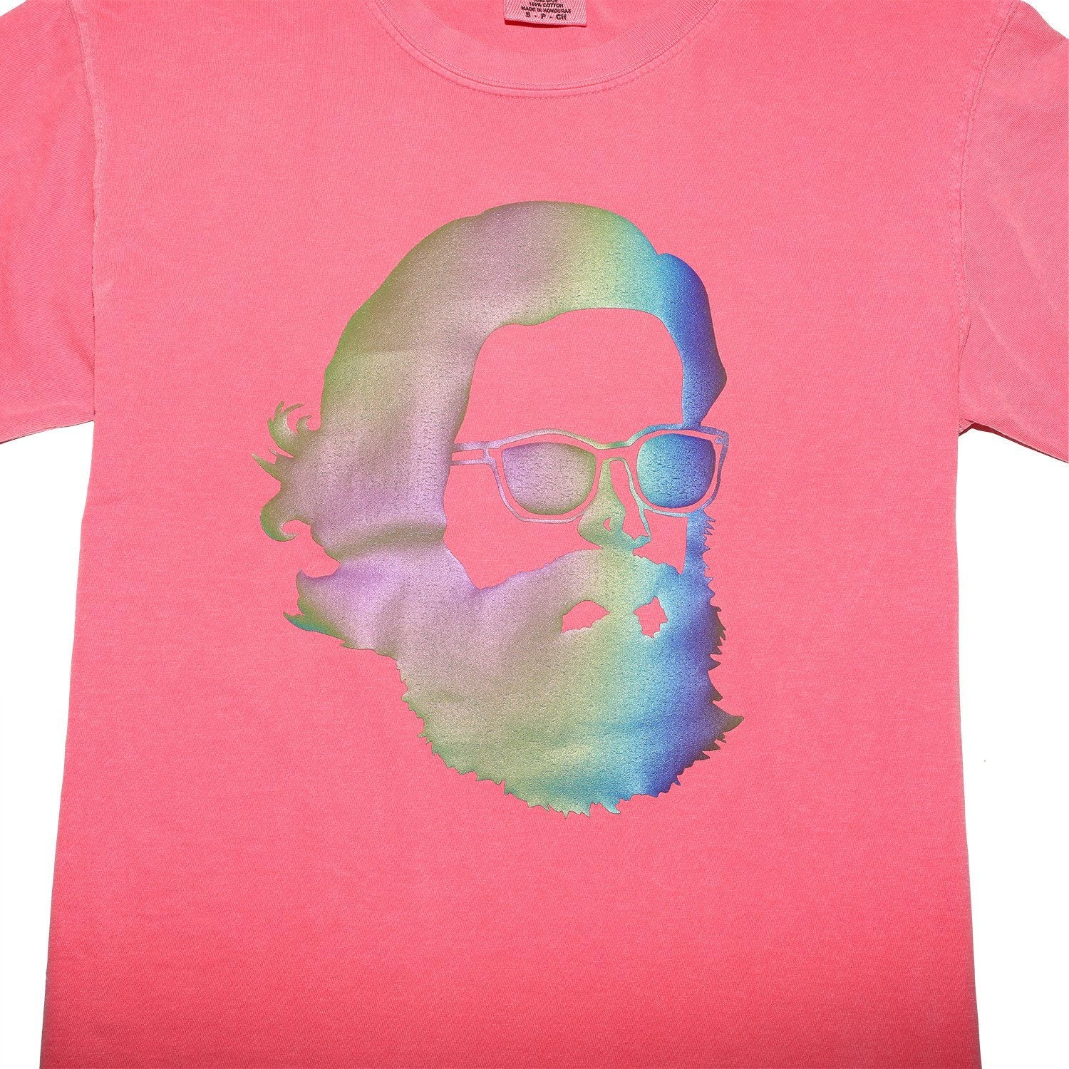 'Misty Face' Tech Wear T-Shirt - Rainbow Reflective