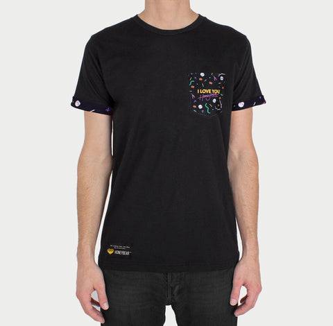 'I Love You, Honeybear™' Custom Black Pocket Tee