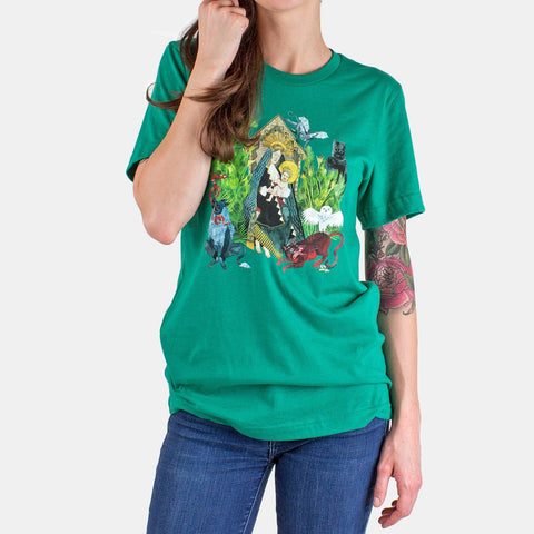 HONEYBEAR™ 'Album Art' Unisex T-Shirt - Kelly Green