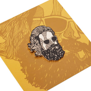 'Misty Face' Enamel Pin