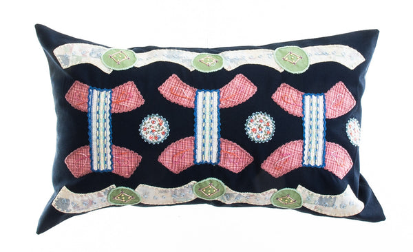 Arcos Design Embroidered Pillow on Black
