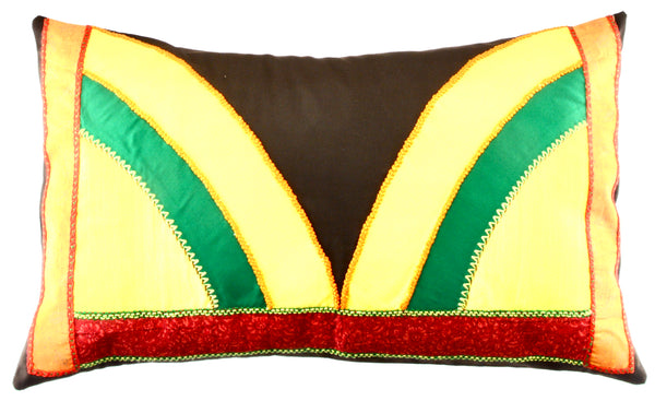 Mariposa Design Embroidered Pillow on chocolate