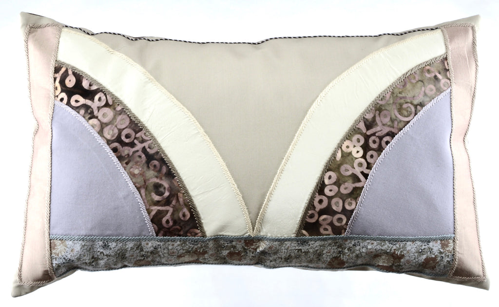 Mariposa Design Embroidered Pillow on brown