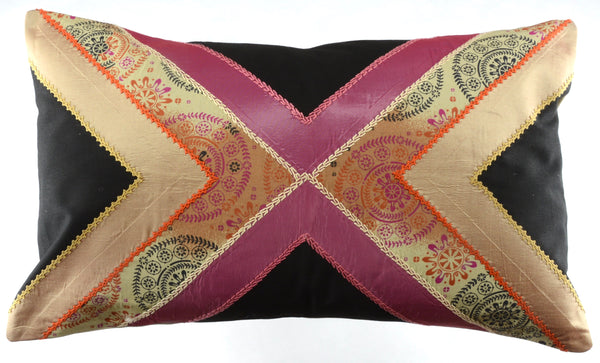 Conexiones Design Embroidered Pillow on Khaki