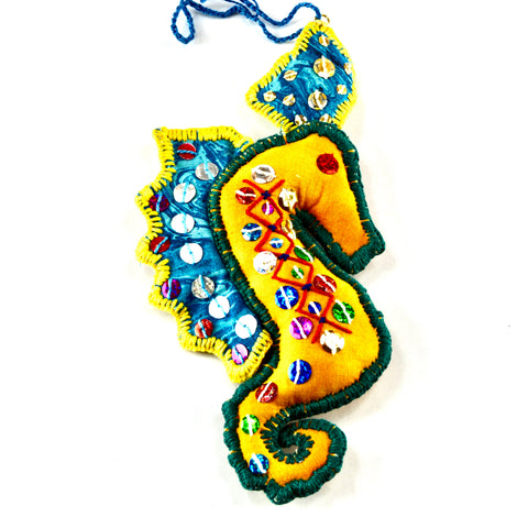 Seahorse Christmas ornament