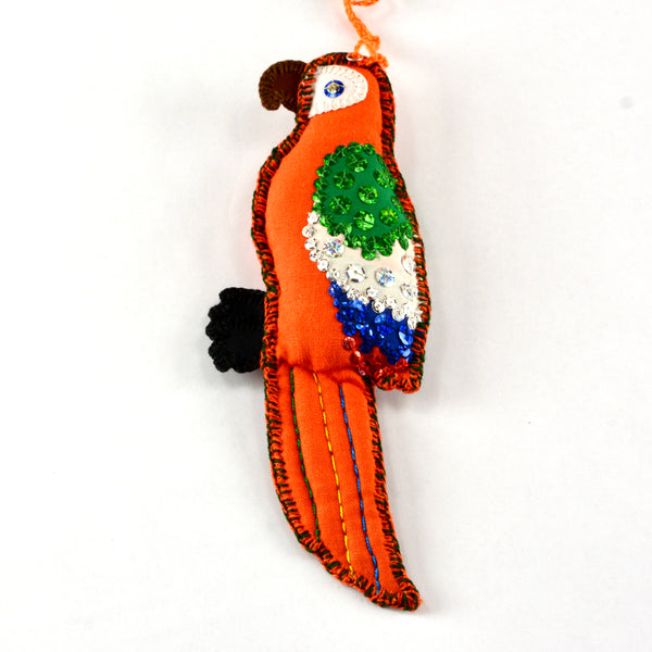 Macaw Christmas ornament