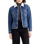Levi's®Ex-BF Trucker Jacket <p>Rough and Tumble