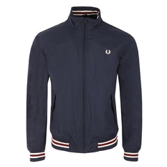 Fred Perry Funnel Neck Tipped Bomber <p>Carbon Blue