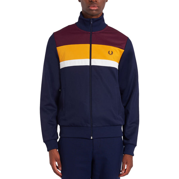 Fred Perry Colour Block Track Jacket<p>Carbon Blue