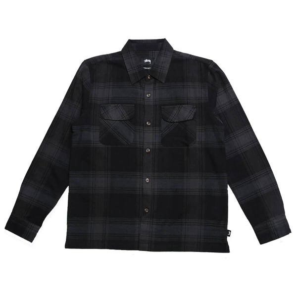 Stussy Shadow Plaid Shirt<p>Black