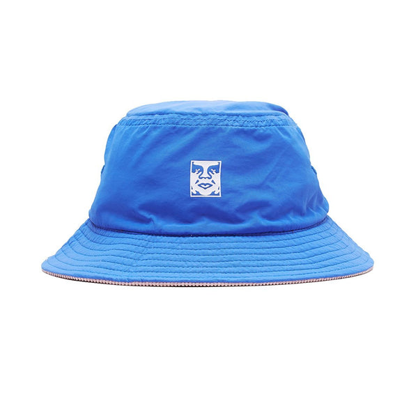 OBEY Icon Reversible Bucket Hat<p>Blue Multi