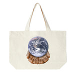 Obey Your Planet is in Your Hands Tote Bag <p> Natural