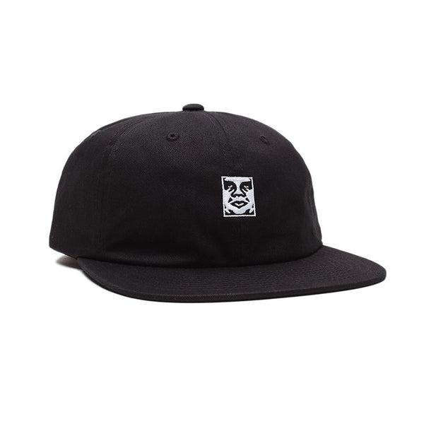 Obey Icon 6 Panel Strap Cap<p>Black