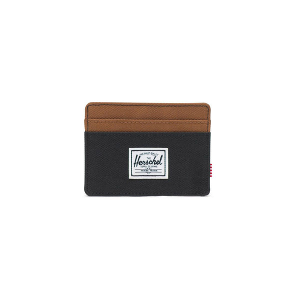 Herschel Charlie Wallet<p>Black/Saddle Brown