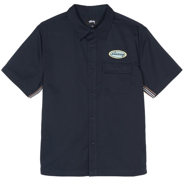 Stussy Side Taped Garage Shirt<p>Navy