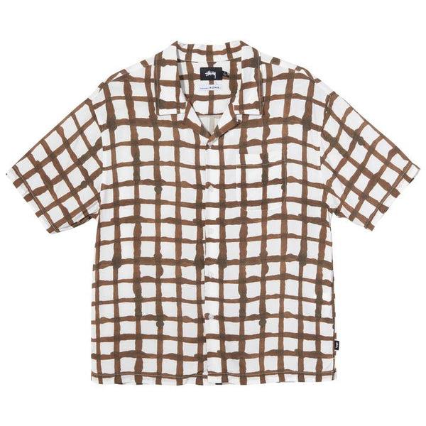 Stüssy Hand Drawn Grid Shirt<p>White