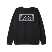 OBEY Crewneck<p>Black