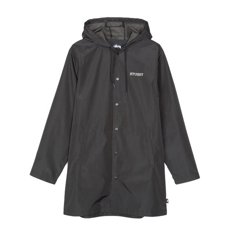 Stussy Tony Long Hooded Coach Jacket<p>Black