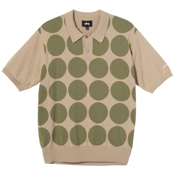 Stussy Circle SS Polo Sweater<p>Khaki