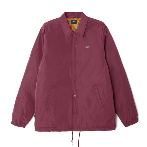 Obey Sanction Jacket<p>Eggplant
