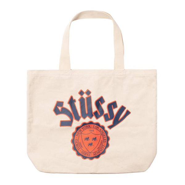 Stussy City Seal Canvas Tote Bag <p> Natural