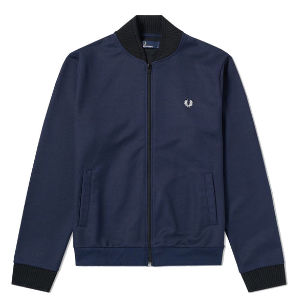 Fred Perry Track Tipped Bomber Jacket<p>Blue Granite