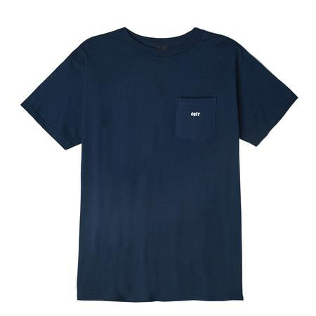 OBEY Jumbled Basic Pocket Tee<p>Navy