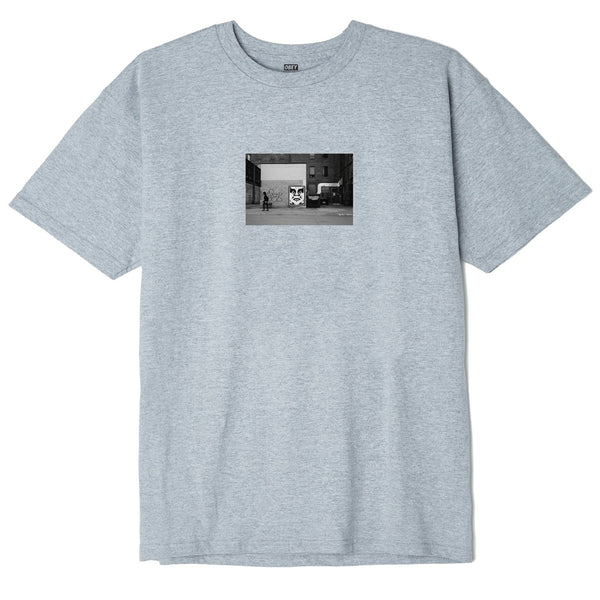 Obey Icon Face Classic Toronto T.Shirt <p> Heather Grey