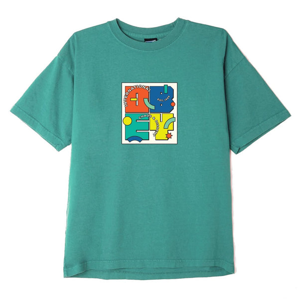 Obey Shapeshift Heavyweigt Box T-Shirt<p>Bright Jade