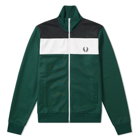 Fred Perry Sports Authentic Colour Block Track Jacket<p>Ivy