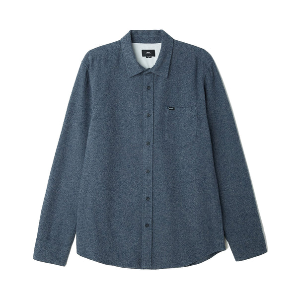 Obey Harrington Woven Shirt<p>Navy