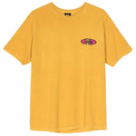 Stüssy Two Bar Oval Pigment Dyed Tee <p>Mustard