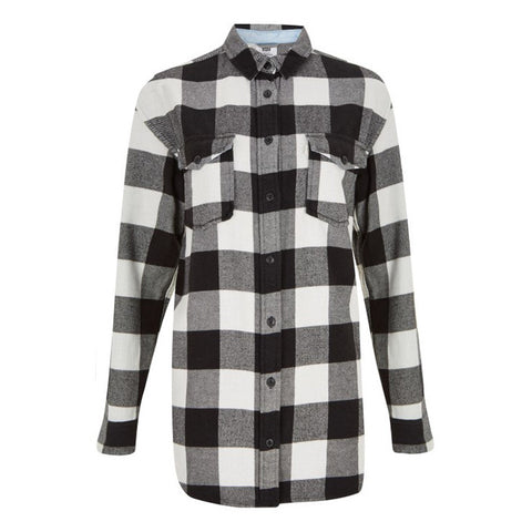 Levi's Women Black Check Shirt<p>Black/White